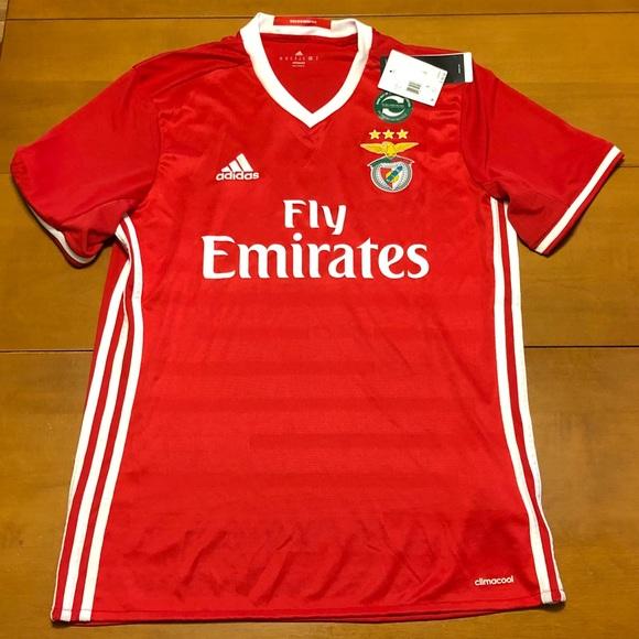 the best attitude 2075a e2612 Adidas Benfica Soccer Jersey ~ M NWT
